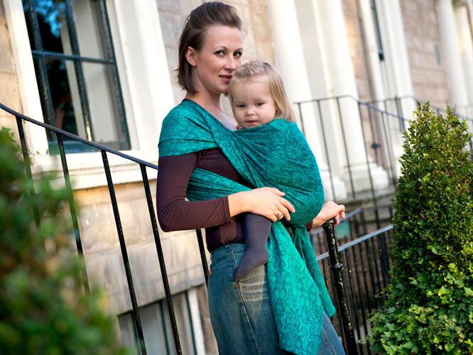 Šatka OSCHA na nosenie detí  vzor Liberty Maya Baby Wrap ba5b6ed591